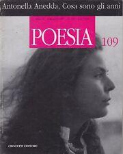Poesia, rivista letteraria, 1997, Crocetti, anno X, poesia inglese, Anedda