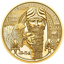Österreich 100 Euro 2019 Gold Mesopotamiens Magie des Goldes (1.) 1/2 Oz Gold PP