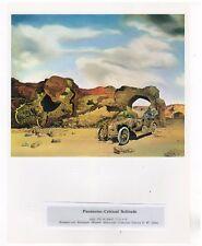 """SALVADOR DALI  Print Book Plate 9x12--""""Paranoiac-Critical Solitude"""" 1936"""