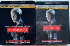 EX MACHINA 4K ULTRA HD BLU RAY 2 DISC SET + SLIPCOVER SLEEVE FREE WORLD SHIPPING