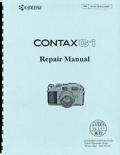 Contax G-1 Service & Repair Manual Reprint