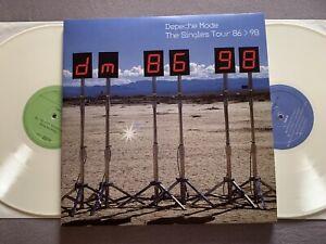 Depeche Mode Doppel LP Singles Tour 86-98, Live, Weisses Vinyl Im Klappcover