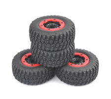 4Pcs Bead-Lock Tire Wheel Rim For 1/10 Scale RC Short Course Car TRAXXAS Slash