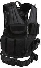 black vest tactical cross draw adjustable molle modular rothco 6491