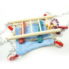 New listing Hamster Toy Suspension Bridge Ladder Hammock Rope Toy Activity Centre Ea7Z