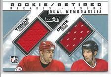 TOMAS HOLMSTROM / DENIS SAVARD 2013-14 ITG Decades ROOKIE/RETIRED Dual Jersey