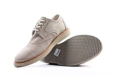 Toms Men's Brogue Tan Full Grain Suede Shoes Sizes 8 Wing Tips Shoes Premium