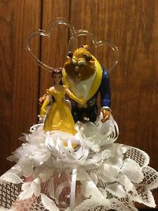 "DISNEY Inspired- Beauty and the Beast Cake-Topper-Party-Decoration ""Marry Me"""