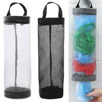 Home Kitchen Wall Mount Plastic Grocery Bags Holder Storage Dispenser Organizers