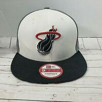 Miami Heat New Era Black & Meteor Logo 9FIFTY Adjustable Snapback Hat - NBA M-L