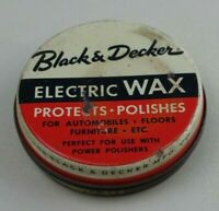Black and Decker Electric Wax Polish Metal Can Tin