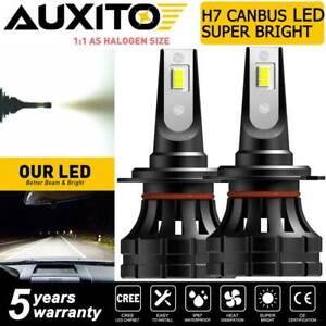 AUXITO H7 LED Headlight Bulb Super Bright Kit High Low Beam White Z1-Plus Canbus