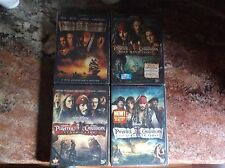 PIRATES OF THE CARIBBEAN COMPLETE SET SERIES COLLECTION SAGA 1 2 3 4. USED  Dvd