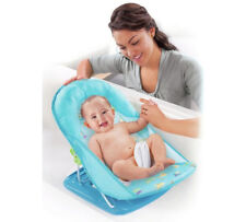 Blue Summer Infant Deluxe Bather Baby Recliner Bath Seat Support x 4 wholesale