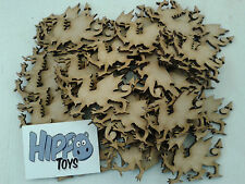 25 Laser Cut Wooden Welsh Dragon Shapes 60 x 35mm 3mm MDF Crafts Made in Wales
