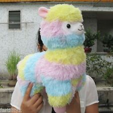 "Alpaca Vicugna Pacos Soft Stuffed Plush Arpakasso Doll Toy Alpacasso Rainbow 14"""