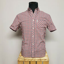 Ben Sherman House Check 1/2 Shirt Blue Depths MA13642 Regular Fit kariert Gr. S
