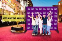 Business Custom Step and Repeat Vinyl Banner 10' x 8' photography backdrop stand