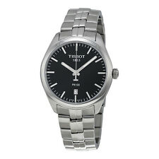 Tissot PR 100 Black Dial Stainless Steel Mens Watch T1014101105100