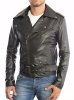 ★Giacca Giubbotto Uomo in di PELLE 100%★ Men Leather Jacket Veste Homme Cuir 17b