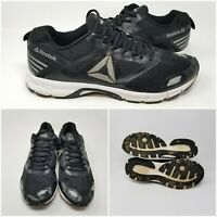 Reebok Black Mesh Knit Low Running Athletic Shoes Sneakers Low Mens Size 13
