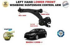 FOR MAZDA 3 2009-> FRONT LEFT LOWER WISHBONE SUSPENSION ARM + BALL JOINT & BUSH