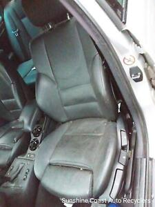 BMW 3 SERIES FRONT SEAT LH FRONT, E46, SEDAN, BLACK, LEATHER MANUAL, 09/98-07/06