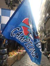 1 bandierone gigante CAMPIONI 100% Napoli  275x185 circa Bandiera Flag