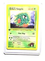 Pokemon card erika/'s tangela 79//132 gym hereos wizard near mint