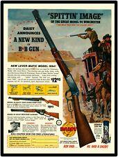 artwall Daisy Spittin Image of 94 Winchester BB Gun firearm metal tin sign