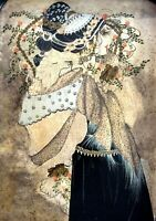 MIRIAM DAUBER (1946-), Quality Large Oil on Copper, An Elegant Woman, Signed