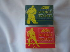 New in the Package Score 1990 & 1991 NHL Rookie and Traded Player Card Set Sets