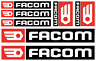 lot 7 Stickers autocollant Facom bricolage adhésif planche sponsor tuning outils