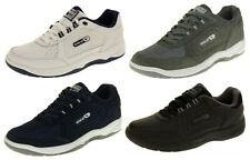 Mens GOLA WIDE FIT EE Trainers LEATHER Laces Shoes Sizes 7 8 9 10 11 12 13 14 15