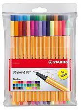 Stabilo Point 88 30 Color Wallet Set Premium Brilliant Neon Colors 46332
