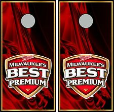 Milwaukee's Best 0562 custom cornhole board vinyl wraps stickers
