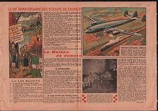 Scouts de France Paris/TWA Air France / Architecture Maison  1946 ILLUSTRATION