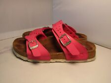 Birkenstock Birki's Women 36 / 5 Freeport Pink Perforated 2 Strap Slides Sandals