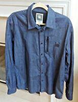 G-Star Raw Originals Denim Long Sleeve Shirt Mens Size XL Cotton
