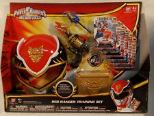 Power Rangers Megaforce Red Ranger Training Set Mask Blaster Buckle Action Card