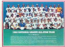 1982 ALL STAR TEAM NATIONAL LEAGUE 8X10 PHOTO SNIDER DAWSON CARLTON BASEBALL HOF