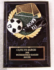 Soccer Award Trophy Plaque Free Engraving 2 Day Mail Gift Box