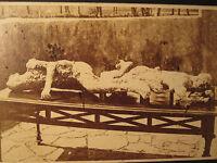 ANTIQUE CIVIL WAR ERA 1863 POMPEII POST MORTEM CAST GIORGIO SOMMER  CDV PHOTO