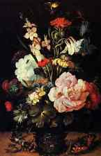 Savery Roelandt Jacobsz Flowers In A Vase A4 Print
