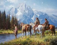 """River's Edge"" Martin Grelle Limited Edition Fine Art Giclee Canvas"