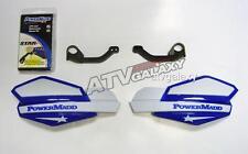 Powermadd Yamaha Raptor 700 Star Handguards White/Blue with Mount Kit