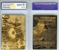 MICHAEL JORDAN 1997 SKYBOX Z-FORCE LIMITED EDITON WCG GEMMT 10 23KT GOLD CARD!