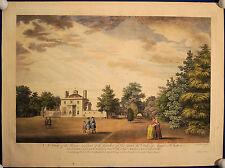 HAUS UND GARTEN des Duke of Argyl, grosser kolorierter Kupferstich 1750 Original