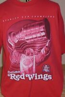 Detroit Red Wings Vintage 1998 Stanley Cup Champions T Shirt size XL