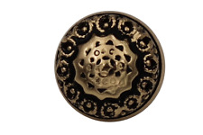 gold antik Metall Knöpfe 13mm Dirndl Tracht Ösenknöpfe nostalgisch 5 Stück